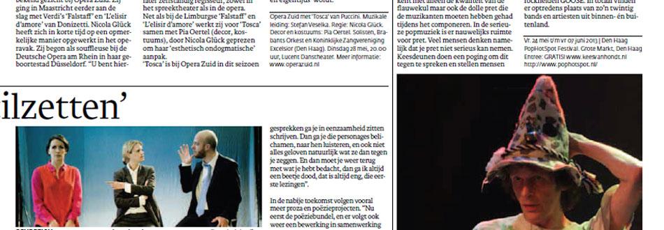 Kees van Hondt in de Haagse krant Den Haag Centraal